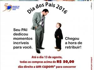 Dia dos Pais 2016 - cartaz 1m x 70cm IMPRESSO curvas pq