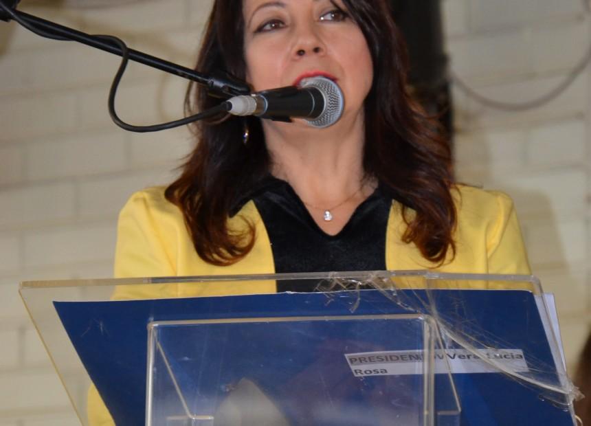 Presidente do Conselho Municipal de Educação, Vera Lúcia Rosa