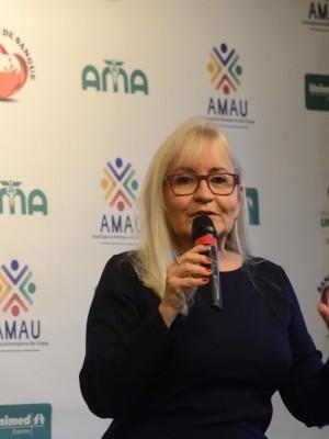 A consultora na área de responsabilidade social, Carmem Reis, proferiu palestra abordando o tema 'Felicidade'