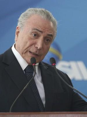 Brasília - O presidente Temer participa do lançamento do Programa BNDES Giro, que visa simplificar e agilizar, pela internet, a concessão de crédito para micro, pequenas e médias empresas (Antonio Cruz/Agência Brasil)