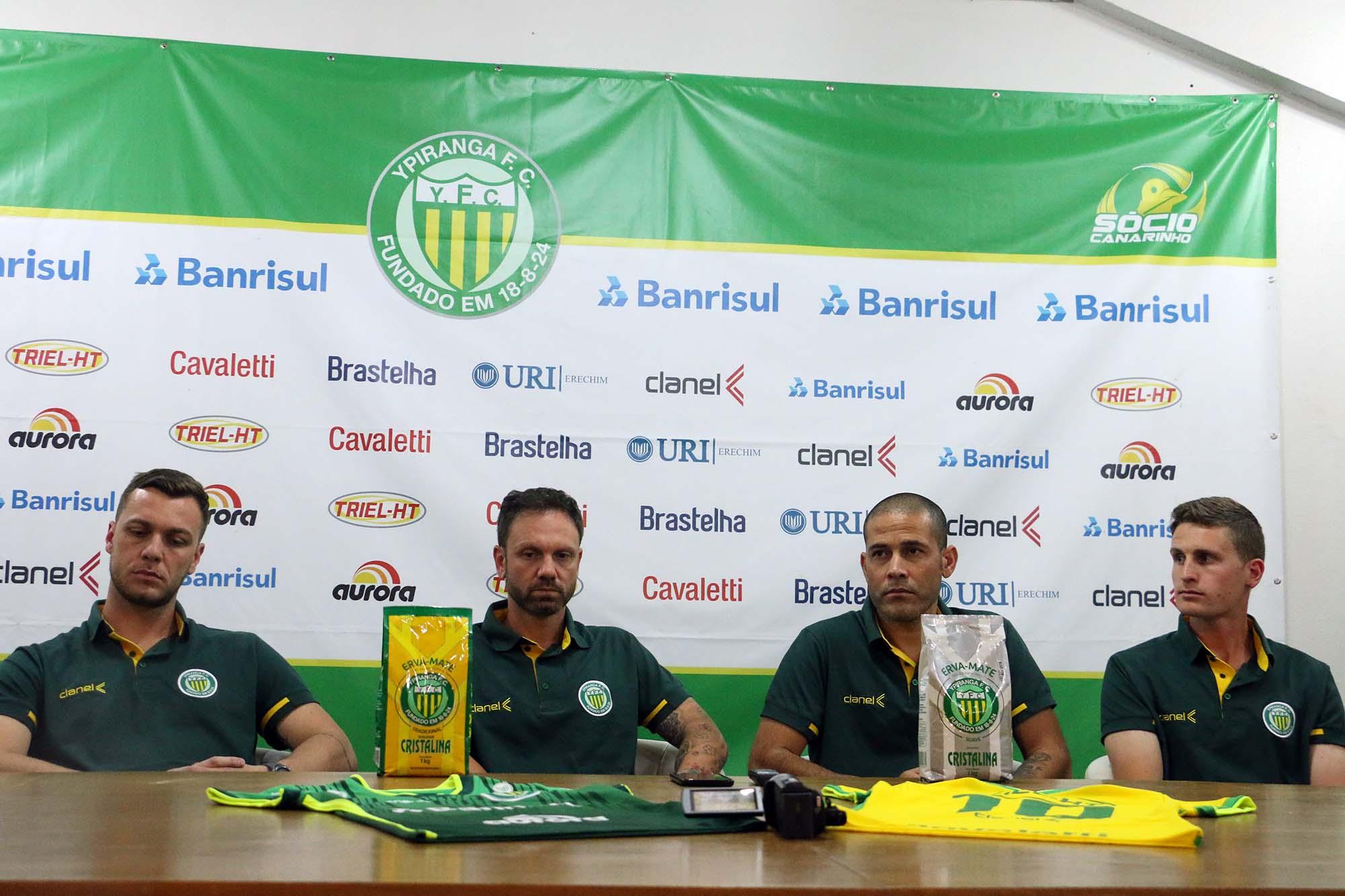 Batisti, Andreis, Borges e Zanatta integrarão a comissão técnica do Ypiranga no próximo ano