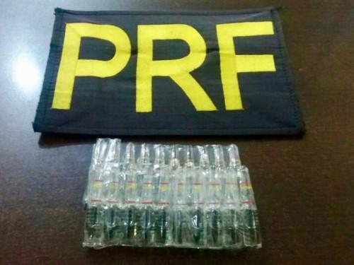 PRF apreensão anabolizando