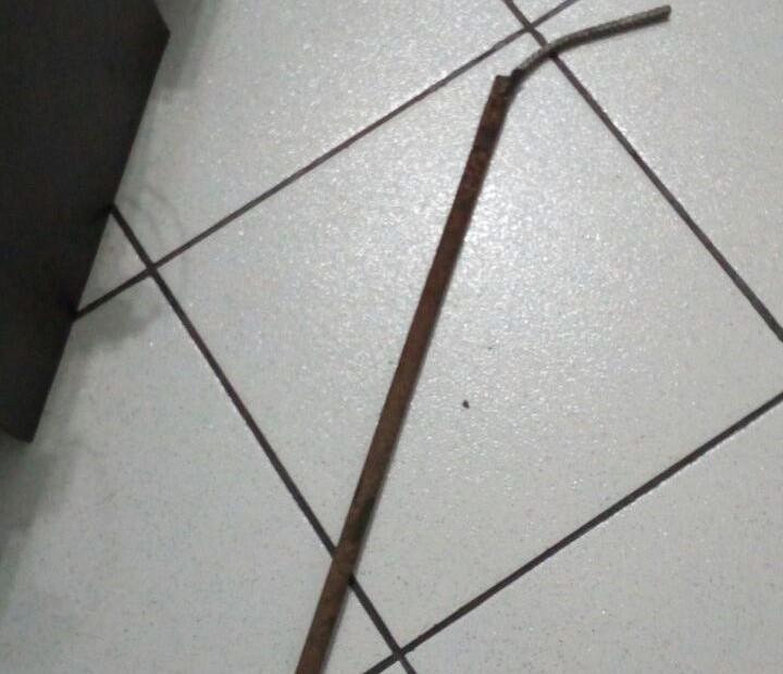 barra ferro tentativa furto