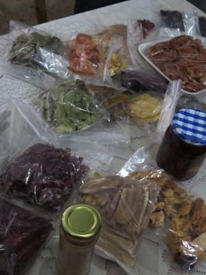 Frutas cristalizadas, chás e outros aproveitamento das frutas