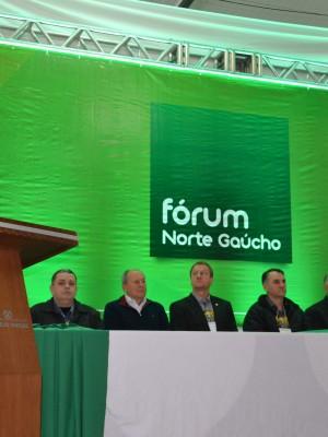 Gilberto Tonello falou em nome das entidades organizadoras do evento
