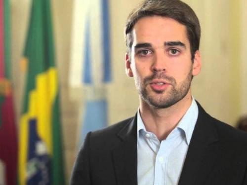 O candidato a governador do RS, Eduardo Leite