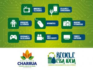 Charrua realiza campanha de recolhimento de lixo eletrônico