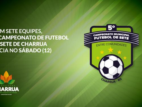 Com sete equipes, 5º Campeonato de Futebol de Sete de Charrua inicia no sábado (12)