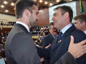 Governador Eduardo Leite com deputado Paparico Bacchi