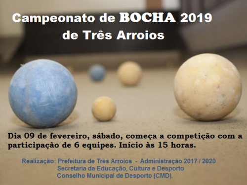 Campeonato de Bocha 2019