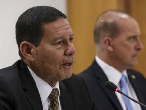 Reunião Ministérial no Palácio do Planalto. Participam: O Vice-Presidente da República, General Hamilton Mourão, o Ministro-Chefe da Casa Civil, Onyx Lorenzoni e ministros.