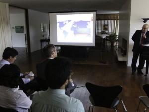 O presidente do Instituto Nacional de Pesquisa Industrial (INPI), Cláudio Furtado, fala durante lançamento da nova fase do projeto de Cooperação Estratégica no setor de inovação entre os governos do Brasil e da Dinamarca.