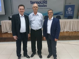 Luiz Schmidt, Beto Fabiani e Bruno Mentges presidente da FURI