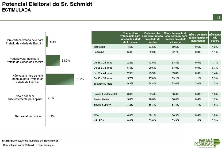 potencial eleitoral schmidt