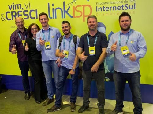 Equipe da Creral Telecom no encontro nacional em Gramado