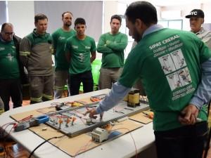 Treinamento com funcionários da Distribuição realizado durante a SIPAT