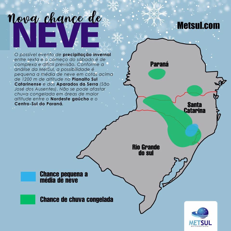 chance de neve