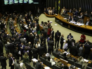 O  presidente da Câmara dos Deputados , Rodrigo Maia, durante sessão para análise de emendas à Reforma no plenário da Câmara dos Deputados