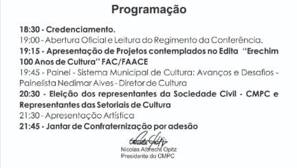 programaçao 3 cultural
