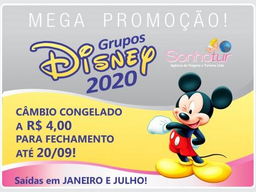 promoção câmbio congelado Disney 2020_