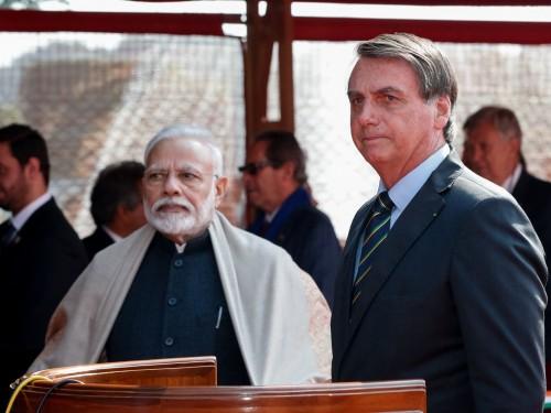 (Nova Delhi - Índia, 25/01/2020) Presidente da República, Jair Bolsonaro, durante Cerimônia Oficial de Chegada. Foto: Alan Santos/PR