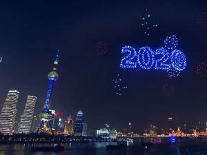 fogos china drones 2020