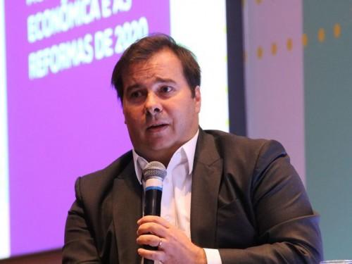 O presidente da Câmara dos Deputados, Rodrigo Maia, participa do evento Apoie a Reforma, organizado pelo Centro de Liderança Pública, no hotel Tivoli Mofarrej