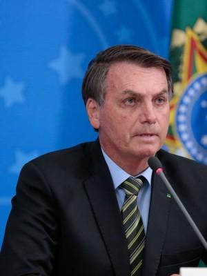 Os presidentes da República, Jair Bolsonaro e  do Supremo Tribunal Federal, ministro Dias Toffoli, fazem declaração à imprensa no Planalto