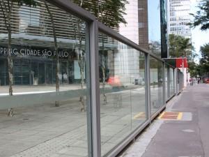 Shopping Cidade São Paulo, localizado na Avenida Paulista, fechado durante a quarentena.
