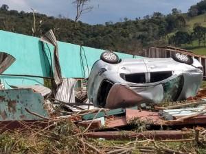 15/08/2020 Água Doce - Estragos causados pelo tornado Foto: Flávio Júnior/ Defesa Civil