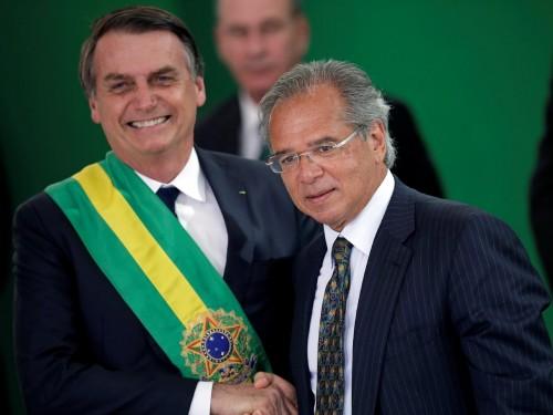 Jair Messias Bolsonaro Presidente e Paulo Guedes Ministro da Economia