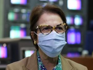 A ministra da Agricultura, Pecuária e Abastecimento, Tereza Cristina, concede entrevista à TV Brasil
