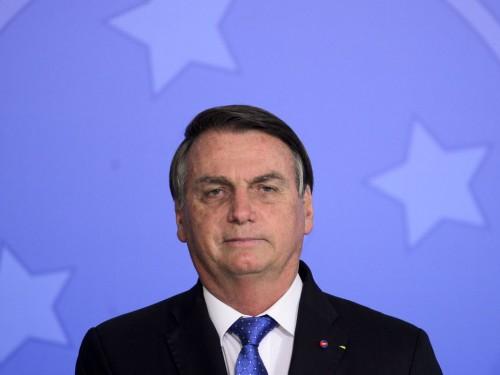 O presidente Jair Bolsonaro durante o lançamento do programa Voo Simples, no Palácio do Planalto.