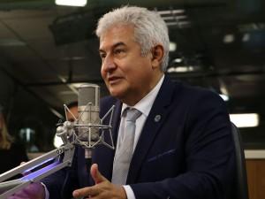 O ministro da Ciência e Tecnologia, Marcos Pontes, participa do programa A Voz do Brasil
