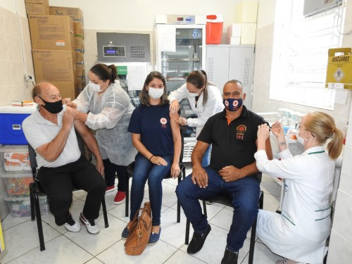 Profissionais do SAMU Sérgio Webber, Raquel lauer Cardoso e Márcio Alberto Cardoso